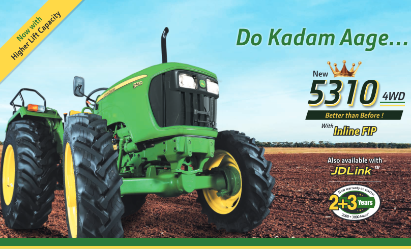 John deere 5310 4WD Tractor Onroad Price in India. John deere 5310 4WD Tractor features and Specification, Review Full Videos