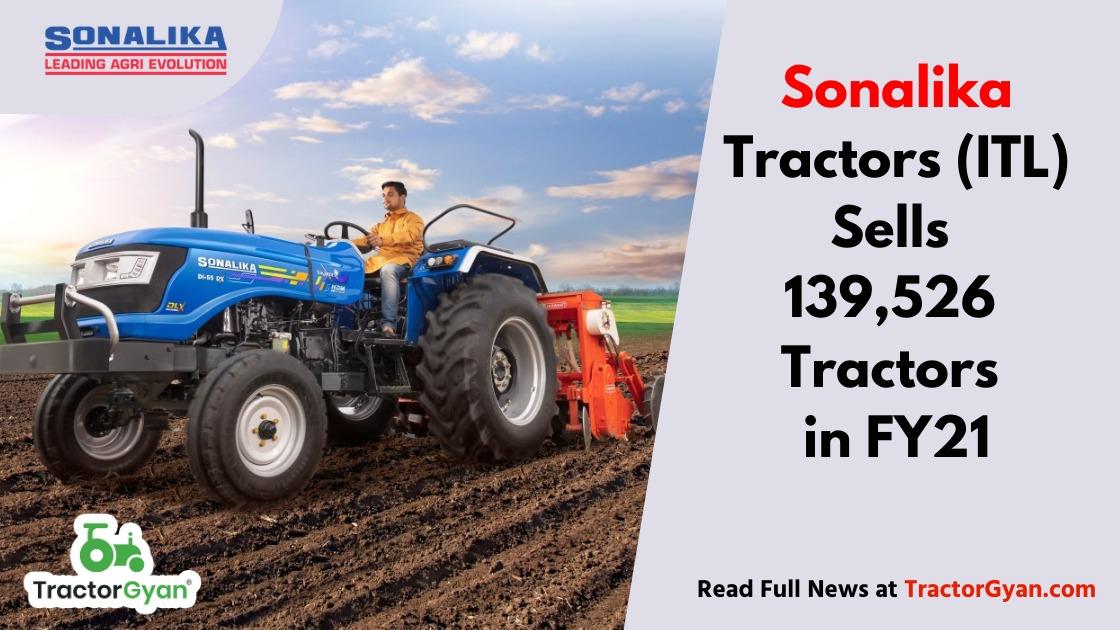 Sonalika Tractors Sells 139,526 tractors in FY21