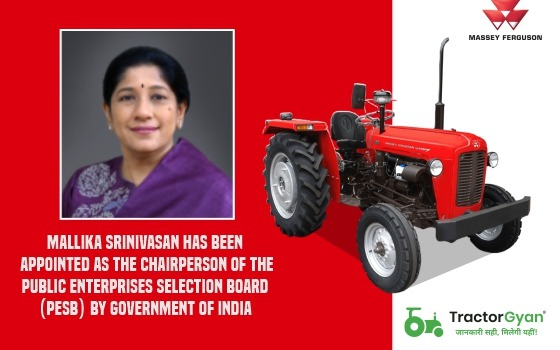 Mallika Srinivasan has been appointed as the Chairperson of the Public Enterprises Selection Board (PESB) by Government of India