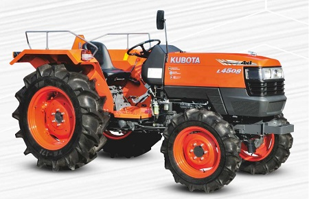 Kubota L4508 4x4 Tractor Onroad Price in India. Kubota L4508 4x4 Tractor features and Specification, Review Full Videos