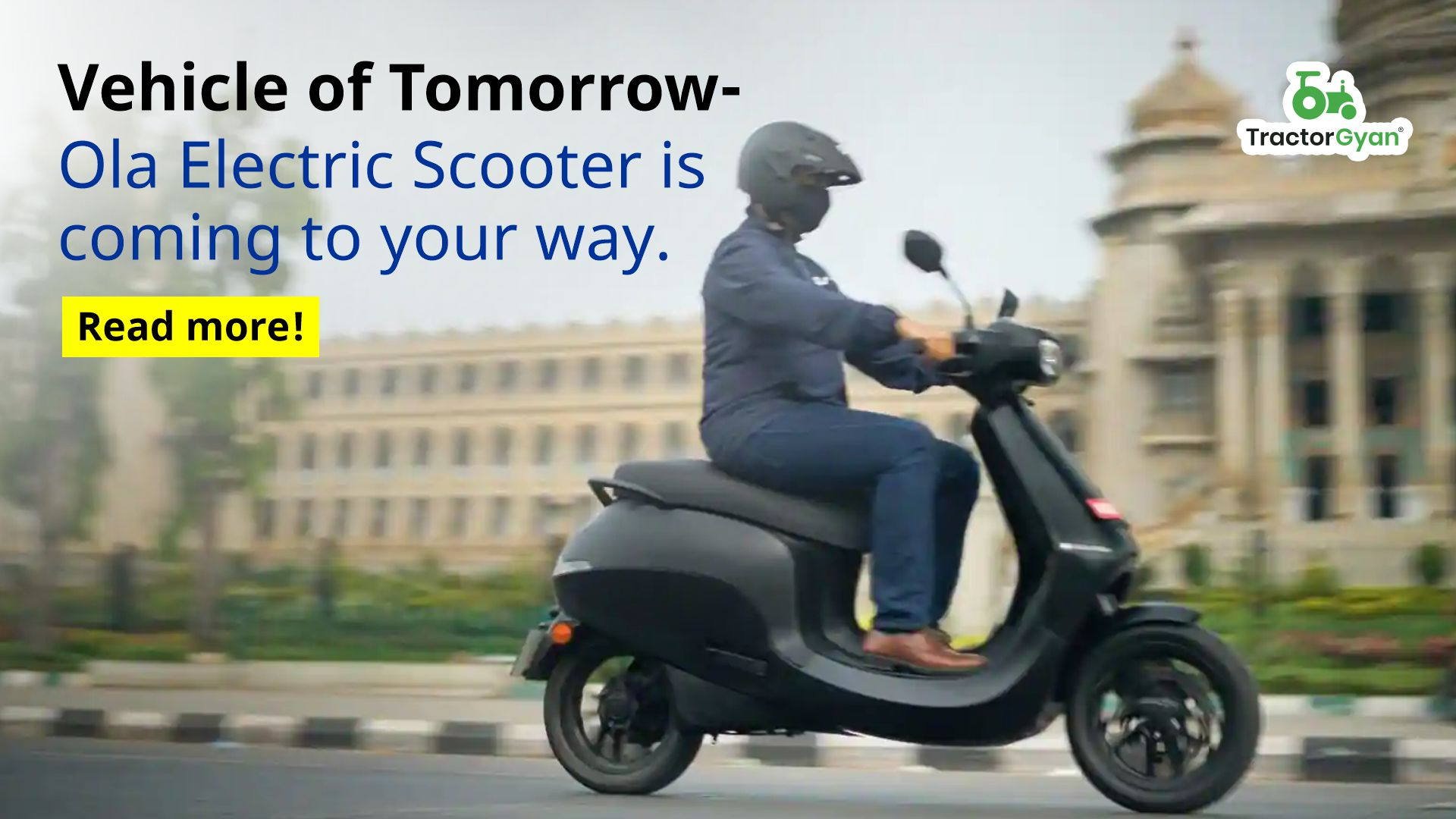 Vehicle of Tomorrow- Ola Electrc Scooter is coming to your way.