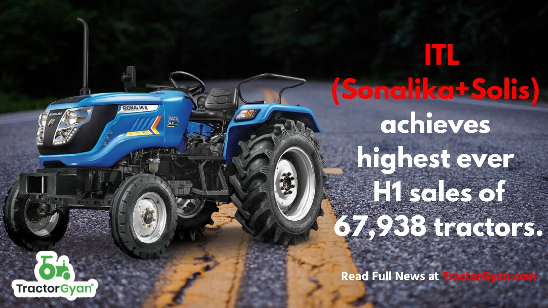 ITL (Sonalika+Solis) achieves highest ever H1 sales of 67,938 tractors