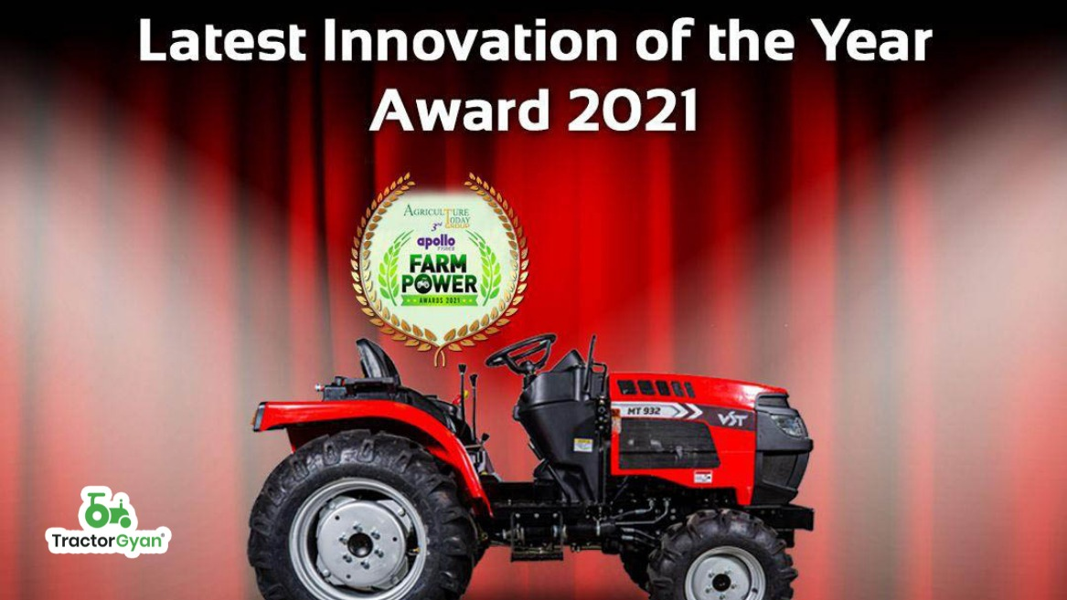 VST MT 932 adjudged the Most Innovative Tractor of 2021