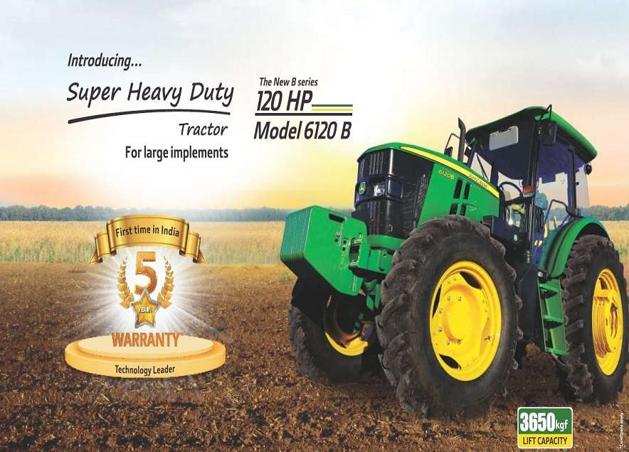 Sonalika John deere 6120 B Tractor On-road price in India. Sonalika John deere 6120 B Tractor Features, specifications, and full video review