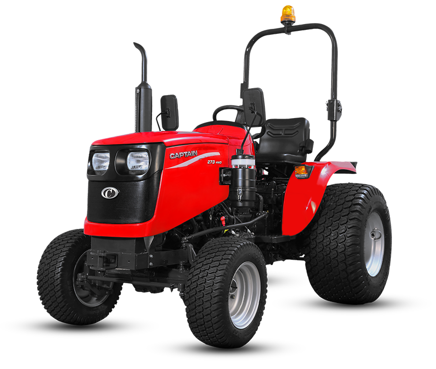 Captain 273 DI 4wd turf tyre Tractor On-road price in India. Captain 273 DI 4wd turf tyre Tractor Features, specifications, and full video review